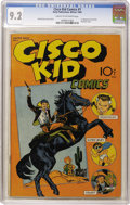 Golden Age (1938-1955):Western, Cisco Kid Comics #1 (Baily Publication, 1944) CGC NM- 9.2 Cream to off-white pages....