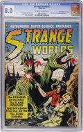 "Golden Age (1938-1955):Science Fiction, Strange Worlds #3 Davis Crippen (""D"" Copy) pedigree (Avon, 1951)CGC VF 8.0 Off-white to white pages...."