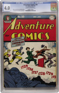 Adventure Comics #89 (DC, 1944) CGC VG 4.0 Cream to off-white pages