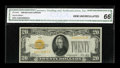 Small Size:Gold Certificates, Fr. 2402 $20 1928 Gold Certificate. CGA Gem Uncirculated 66.. ...