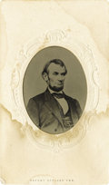 Photography:Tintypes, Abraham Lincoln $5 Bill Portrait Tintype,...
