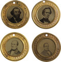Photography:Tintypes, 1860 Election: A Stunning Matched Set of Four Scarce OversizedFerrotypes....