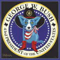 Political:3D & Other Display (1896-present), George W. Bush: Impressive Presidential Seal Blue Dog Print Signedby the Artist, George Rodrigue....