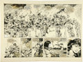 Original Comic Art:Panel Pages, Gary Kwapisz (attributed) - Savage Sword of Conan Double-Page Spread Original Art (Marvel, 1984)....