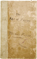 Books:Pamphlets & Tracts, Thomas Paine: The Age of Reason. Being an Investigationof True and of Fabulous Theology (Boston: Thomas Hall, 1...(Total: 11 Items)