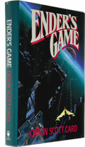 Books:First Editions, Orson Scott Card: Ender's Game (New York: Tor, 1985), firstedition, 357 pages, cover art by John Harris, blue board...