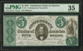 Confederate Notes:1861 Issues, CT33/250 Counterfeit $5 1861. . ...