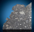 Meteorites:Lunar, NWA 8306 - Among the Rarest Substances on Earth, A Select PartialSlice of the Moon. Lunar Feldspathic Breccia . Sahara De...