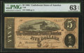 Confederate Notes:1864 Issues, T69 $5 1864 PF-8 Cr. 562.. ...