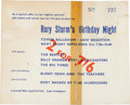 Music Memorabilia:Memorabilia, Beatles - Rory Storm Birthday Concert Ticket (1962)....