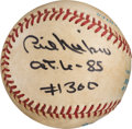 Baseball Collectibles:Balls, 1985 Phil Niekro Game Used, Signed Baseball from 300th Win Game....
