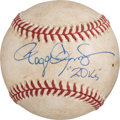 Baseball Collectibles:Balls, 1986 Roger Clemens Twenty Strikeout Game Used, Signed Baseball. ...