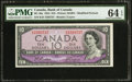 Canadian Currency: , BC-40a $10 1954 Modified Portrait.. ...