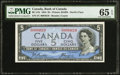 Canadian Currency: , BC-31b $5 Devil's Face 1954.. ...