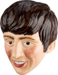 Music Memorabilia:Memorabilia, Beatles - George Harrison Ceramic Wall Plaque (UK - Kelsboro Ware, 1964)....