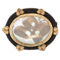 Estate Jewelry:Brooches - Pins, Victorian Woven Hair, Mother-of-Pearl, Seed Pearl, Gold MourningBrooch. ...