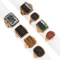 Estate Jewelry:Rings, Victorian Gentleman's Multi-Stone, Gold Rings. ... (Total: 8 Items)