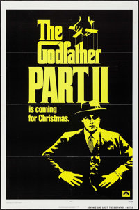 "The Godfather Part II (Paramount, 1974). One Sheet (27"" X 41"") Advance. Crime"