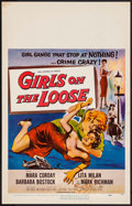 "Movie Posters:Bad Girl, Girls on the Loose (Universal International, 1958). Window Card(14"" X 22""). Bad Girl.. ..."