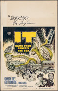 """Movie Posters:Science Fiction, It Came from Beneath the Sea (Columbia, 1955). Autographed WindowCard (14"""" X 22""""). Science Fiction.. ..."""