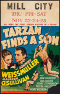 "Movie Posters:Adventure, Tarzan Finds a Son (MGM, 1939). Window Card (14"" X 22"").Adventure.. ..."