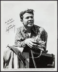 """Movie Posters:Western, Audie Murphy (Universal, 1953). Autographed Photo (8"""" X 10""""). Western.. ..."""