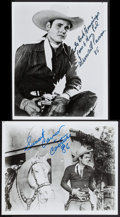 """Movie Posters:Western, Sunset Carson Lot (Sunset 'Kit' Carson Associates, 1980s). Autographed Restrike Photos (2) (8"""" X 10""""). Western.. ... (Total: 2 Items)"""
