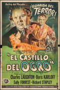 "Movie Posters:Horror, The Strange Door (Universal International, 1952). Argentinean Poster (29"" X 43""). Horror.. ..."