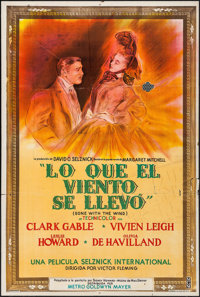 """Gone with the Wind (MGM, 1940). Argentinean Poster (29"""" X 43""""). Academy Award Winners"""