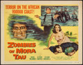 """Movie Posters:Horror, Zombies of Mora Tau (Columbia, 1957). Title Lobby Card (11"""" X 14""""). Horror.. ..."""