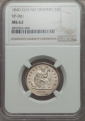 Seated Quarters, 1840-O 25C No Drapery MS62 NGC. Briggs 2-B, Flynn RPD-002....