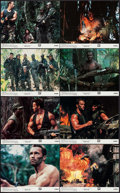 "Movie Posters:Science Fiction, Predator (20th Century Fox, 1987). Mini Lobby Card Set of 8 (8"" X10""). Science Fiction.. ... (Total: 8 Items)"