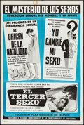 "Movie Posters:Exploitation, The Mystery of the Sexes (Unknown, 1960s). Argentinean Poster (29""X 43""). Exploitation.. ..."