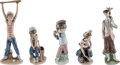Baseball Collectibles:Others, 1970's and 1980's Lladros Sports Figurines Lot of 5 from The GaryCarter Collection....