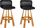 Baseball Collectibles:Others, 1980's Gary Carter Pro Model Bat Bar Stools Lot of 2 from The GaryCarter Collection. ...