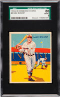 Baseball Cards:Singles (1930-1939), 1934-36 Diamond Stars Max Bishop #6 SGC 88 NM/MT 8 - Pop One, NoneHigher....