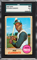 Baseball Cards:Singles (1960-1969), 1968 Topps Roberto Clemente #150 SGC 98 Gem 10 - The Ultimate SGCExample, Pop One!...