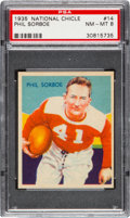 Football Cards:Singles (Pre-1950), 1935 National Chicle Phil Sorboe #14 PSA NM-MT 8 - Two Higher. ...