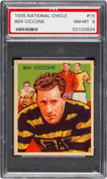 Football Cards:Singles (Pre-1950), 1935 National Chicle Ben Ciccone #15 PSA NM-MT 8....