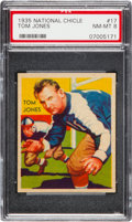 Football Cards:Singles (Pre-1950), 1935 National Chicle Tom Jones #17 PSA NM-MT 8....