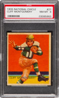 Football Cards:Singles (Pre-1950), 1935 National Chicle Cliff Montgomery #21 PSA NM-MT 8 - Two Higher. ...