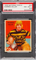 Football Cards:Singles (Pre-1950), 1935 National Chicle Warren Heller #20 PSA NM-MT+ 8.5 - Pop Two,Six Higher. ...