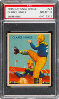 Football Cards:Singles (Pre-1950), 1935 National Chicle Clarke Hinkle #24 PSA NM-MT 8 - Two Higher....