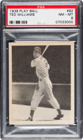 Baseball Cards:Singles (1930-1939), 1939 Play Ball Ted Williams #92 PSA NM-MT 8....