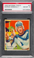 Football Cards:Singles (Pre-1950), 1935 National Chicle George Kenneally #3 PSA NM-MT 8 - ThreeHigher. ...