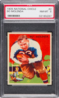 Football Cards:Singles (Pre-1950), 1935 National Chicle Bo Molenda #2 PSA NM-MT 8 - None Higher. ...