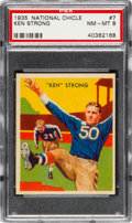Football Cards:Singles (Pre-1950), 1935 National Chicle Ken Strong #7 PSA NM-MT 8....