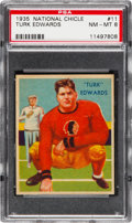 Football Cards:Singles (Pre-1950), 1935 National Chicle Turk Edwards #11 PSA NM-MT 8 - Only OneHigher. ...