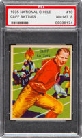 Football Cards:Singles (Pre-1950), 1935 National Chicle Cliff Battles #10 PSA NM-MT 8 - Two Higher....