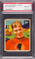 Football Cards:Singles (Pre-1950), 1935 National Chicle Pug Rentner #6 PSA NM-MT 8....